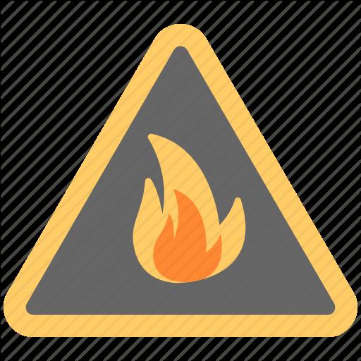 Fire Danger Sign, Fire Hazard, Fire Sign, Flammable Material