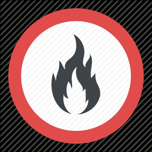 Fire Hazard Label, Fire Hazard Sign, Fire Safety Sign, Flammable
