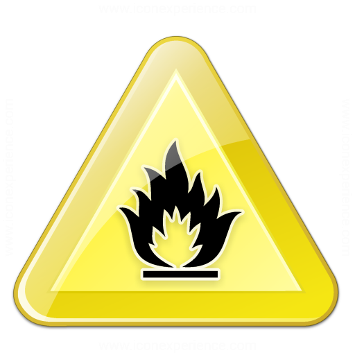 Iconexperience V Collection Sign Warning Flammable Icon