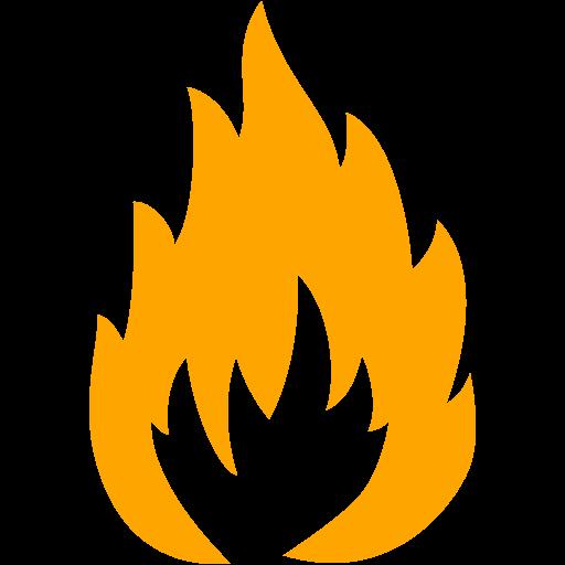 Orange Flammable Icon