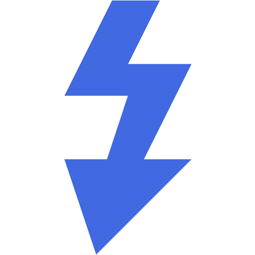 Royal Blue Flash Icon