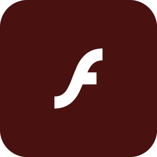 Adobe, Flash, Flashplayer, Rounded Icon