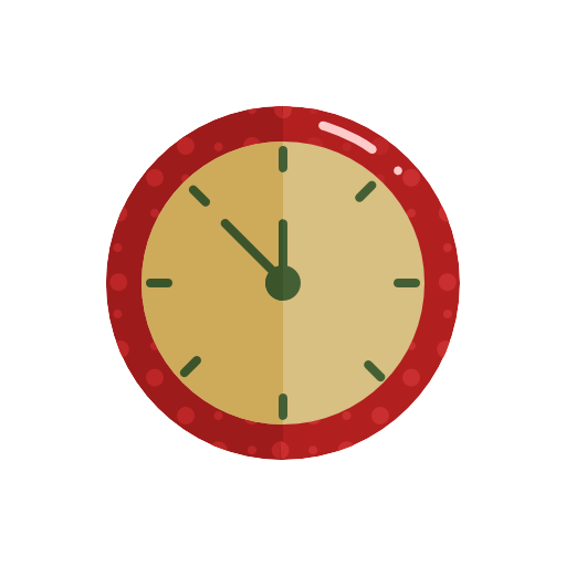 Clock, Christmas Icon Free Of Christmas Icons In Flat