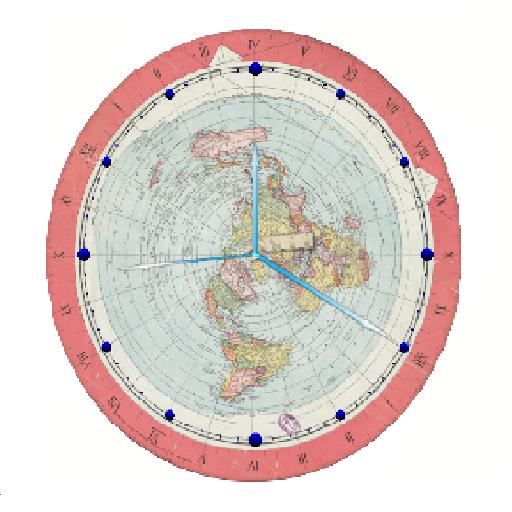 Flat Earth Map Clock Latest Version Apk