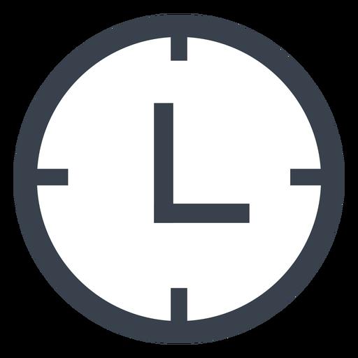 Flat Wall Clock Icon