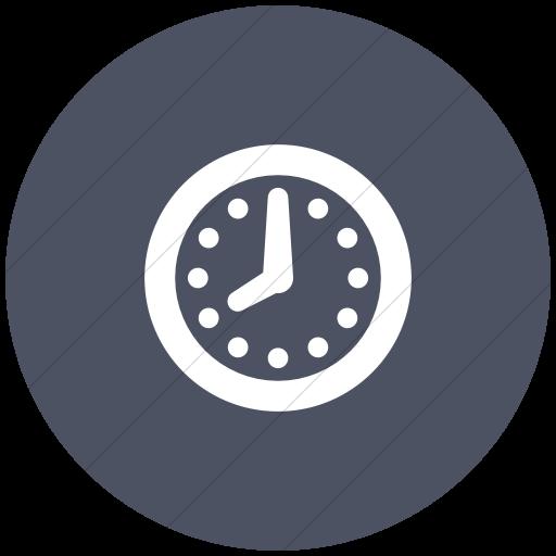 Flat Circle White On Blue Gray Raphael Clock Icon