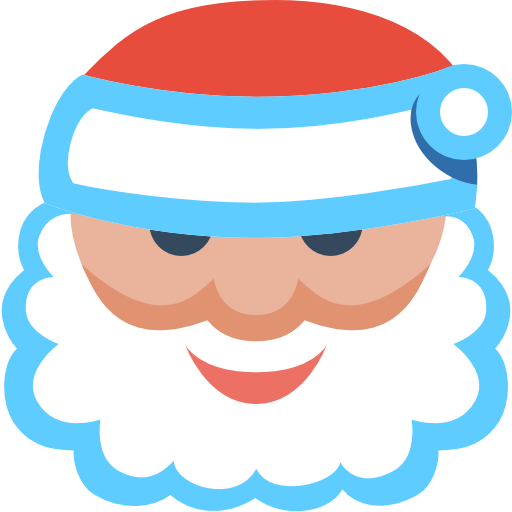 Santa Icon Christmas Flat Color Iconset