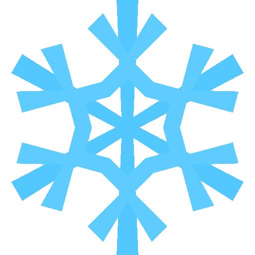 Snowflake Icon Christmas Flat Color Iconset