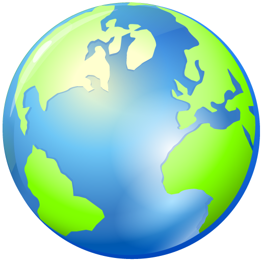 Browser, Planet, World, Earth, Global, Globe Icon