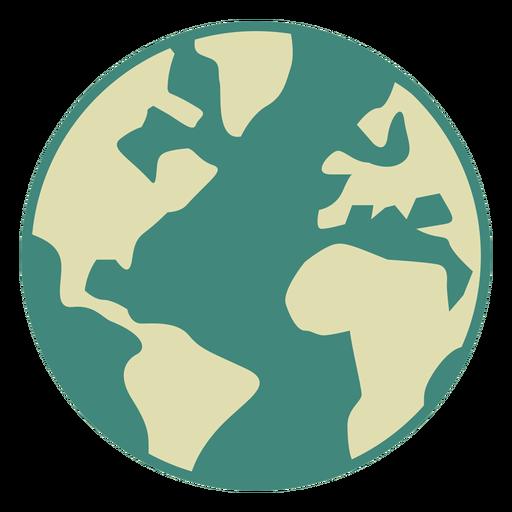 Earth Globe Flat Icon