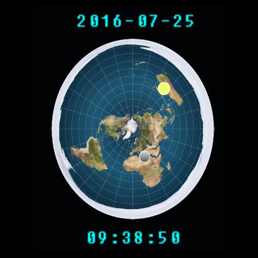 Flat Earth Sunmoon Clock Latest Version Apk