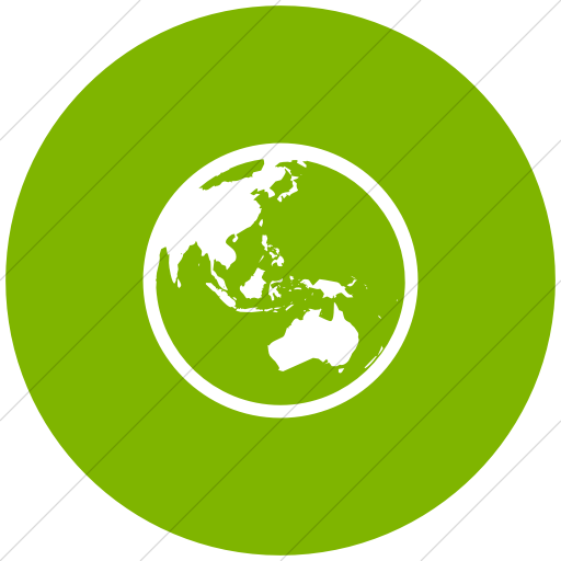 Flat Circle White On Green Classica Earth Asia