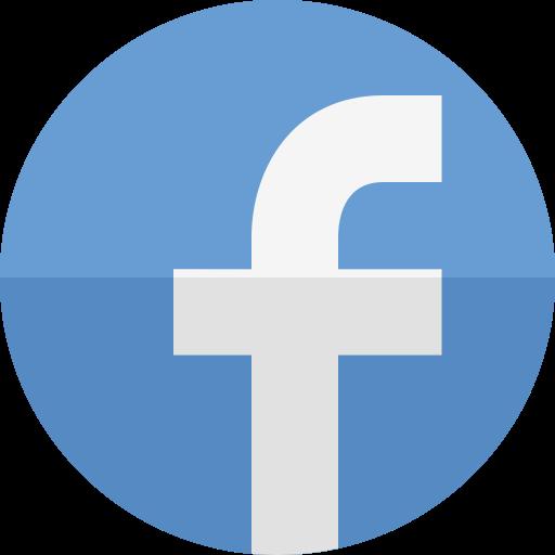 Facebook Flat Cornflowerblue Icon