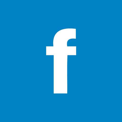 Facebook Flat Darkcyan Icon