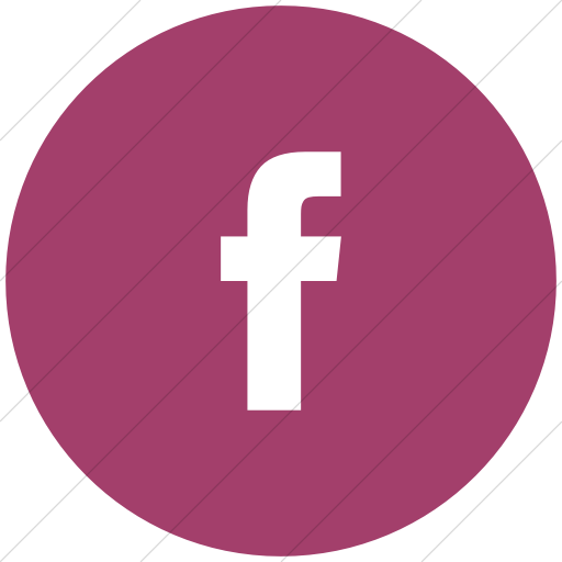 Flat Circle White On Pink Bootstrap Font Awesome Brands