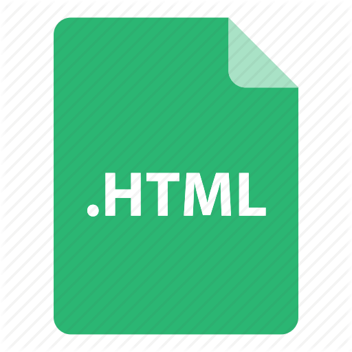 , Extension, Format, Type, Html Icon