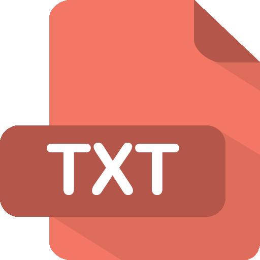 Txt Icon Flat Type Iconset Pelfusion