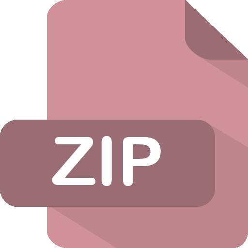 Zip Icon Flat Type Iconset Pelfusion