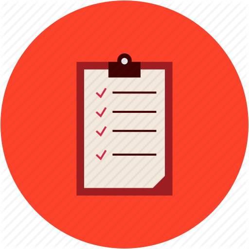 Checklist, Red, Text, Transparent Png Image Clipart Free Download