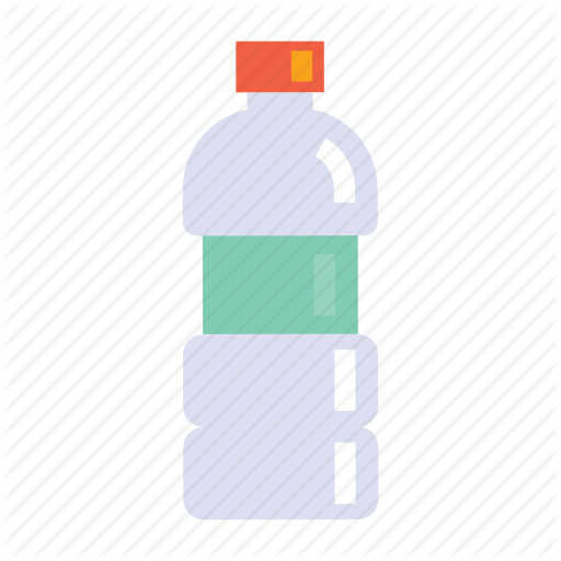 Bottle, Flat, Icon, Packaging, Plastic, Set, Waste, Water Icon