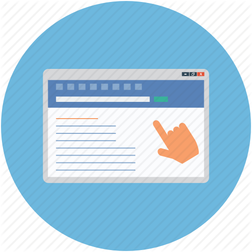 Hand, Laptop, Monitor, Pointer, Pointing, Website Icon