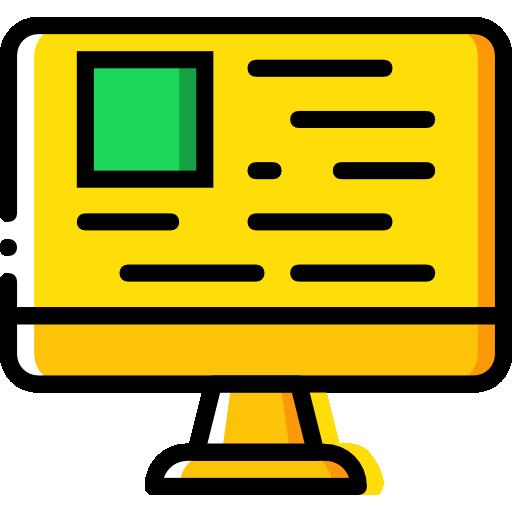 Web Monitor Flat Icon