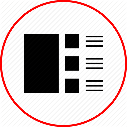 Design, Interface, Page, Web, Wireframe Icon Icons Flat Style