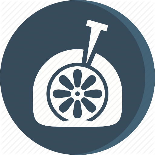 Automobile, Car, Flat Tire, Garage, Service, Servicing, Vehicle Icon