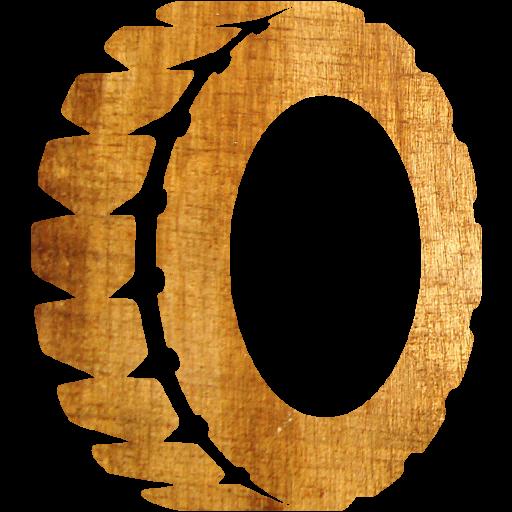 Light Wood Tire Icon