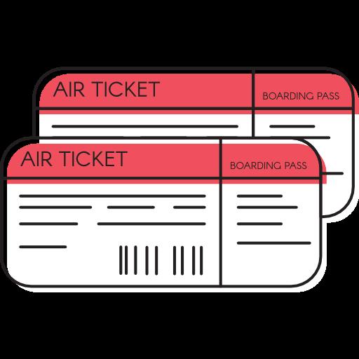 Travel, Plane Tickets, Airfare, Holidays, Passage, Plane Ticket Icon