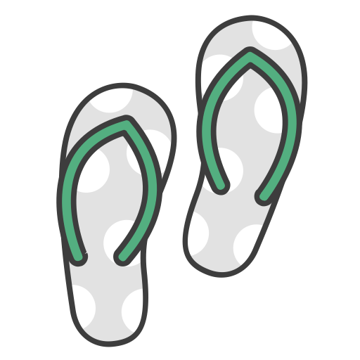 Vacation, Flip Flops, Journey, Travel, Sandals, Flats, Summer Icon