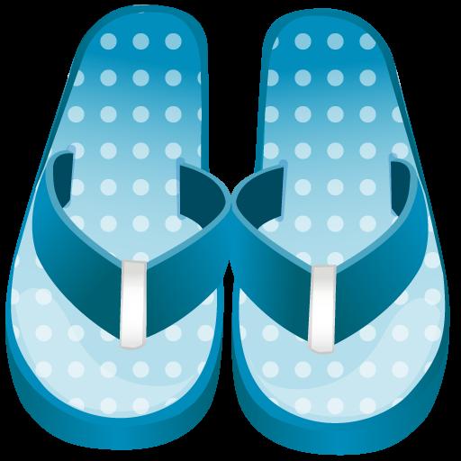 Flip Flop Icon Summer Blue Iconset Dapino