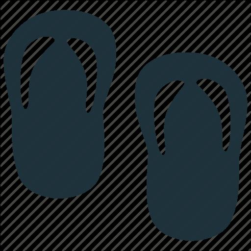 Flip Flop, Footwear, Sandals, Slippers Icon