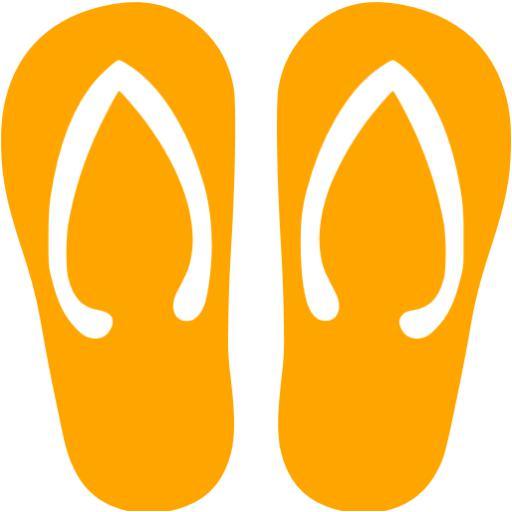 Orange Flip Flop Icon