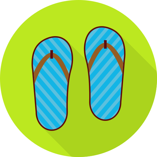 Summer, Flip Flops Icon Free Of Summer Travel Flat