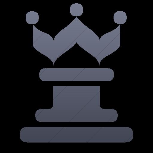 Simple Blue Gray Gradient Classica Queen Chess Piece Icon