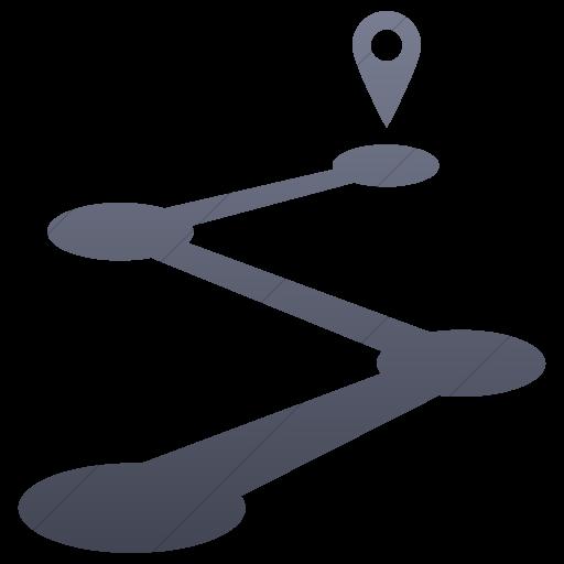 Simple Blue Gray Gradient Raphael Road Map Icon