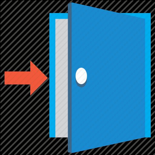Door Flat Icon Door Flat Icon For Your Design Vector