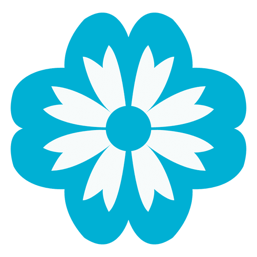 Blue Floral Icon