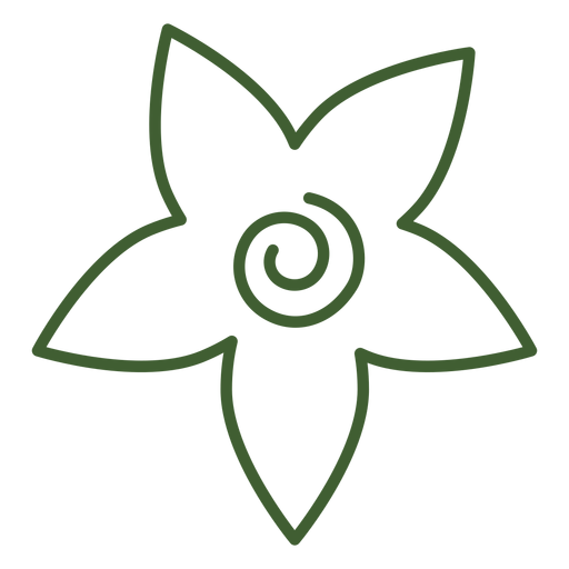 Flat Floral Icon
