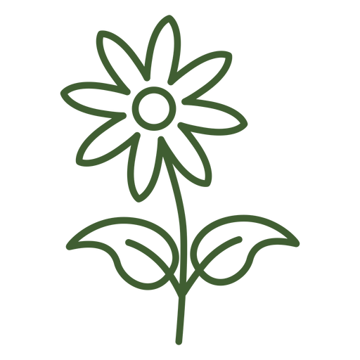 Flat Flower Icon Flower Floral