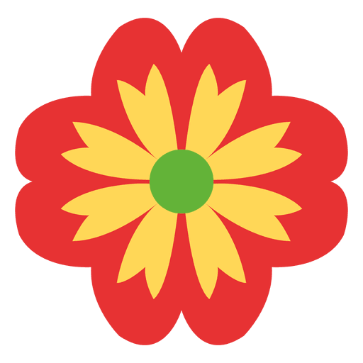 Red Floral Icon