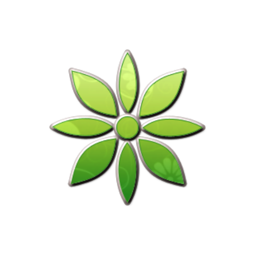 Cropped Retro Green Floral Icon Natural Wonders