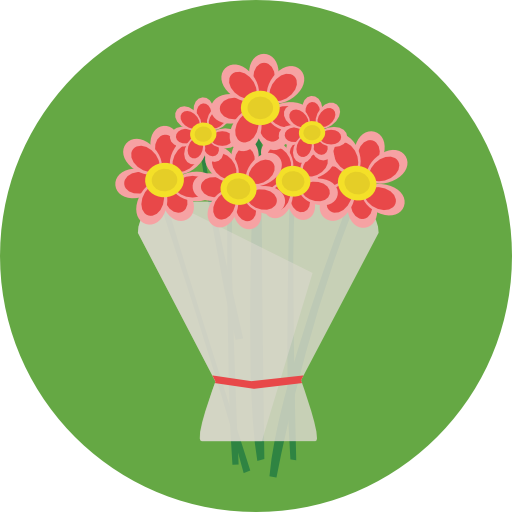 Gift, Nature, Lovely, Roses, Bouquet, Floral Icon