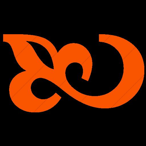 Simple Orange Classica Flourish Icon