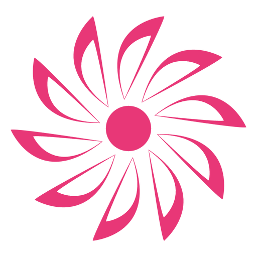 Pink Starry Flower Icon