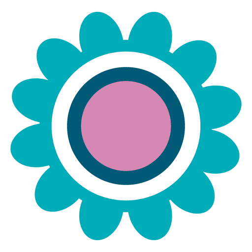 Teal Flower Icon