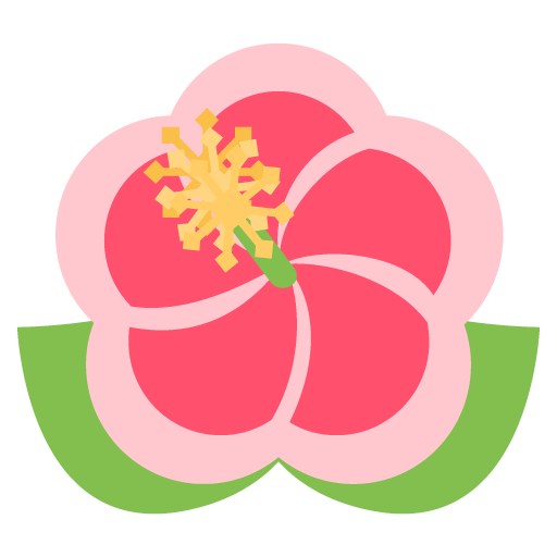 Hibiscus Emoji For Facebook, Email Sms Id
