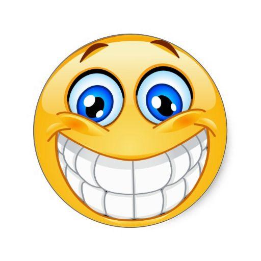Smiley Face Sticker Emojis Smileys Teeth Emoji, Emoji Faces