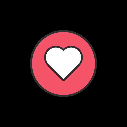 Heart, Love, Facebook, Emoji Icon